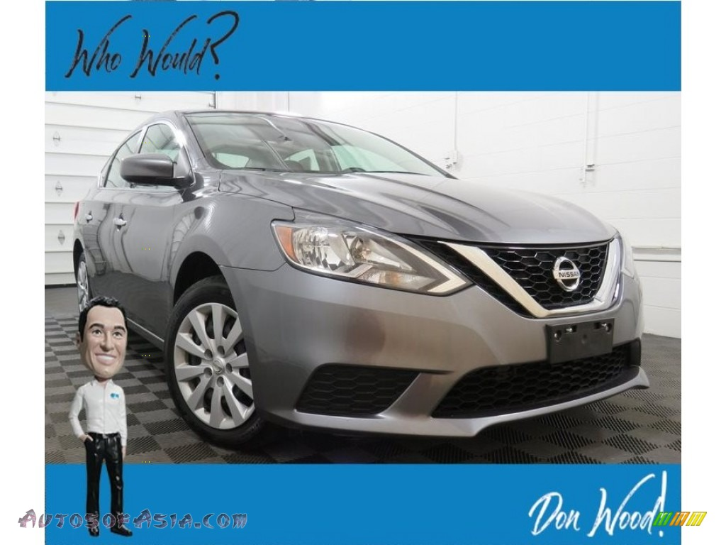 2017 Sentra S - Gun Metallic / Charcoal photo #1