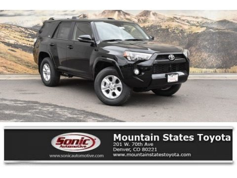 Midnight Black metallic 2019 Toyota 4Runner SR5 Premium