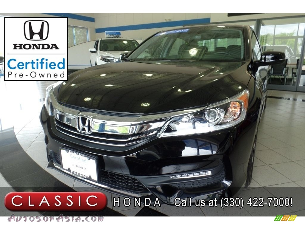 Crystal Black Pearl / Black Honda Accord EX-L Sedan