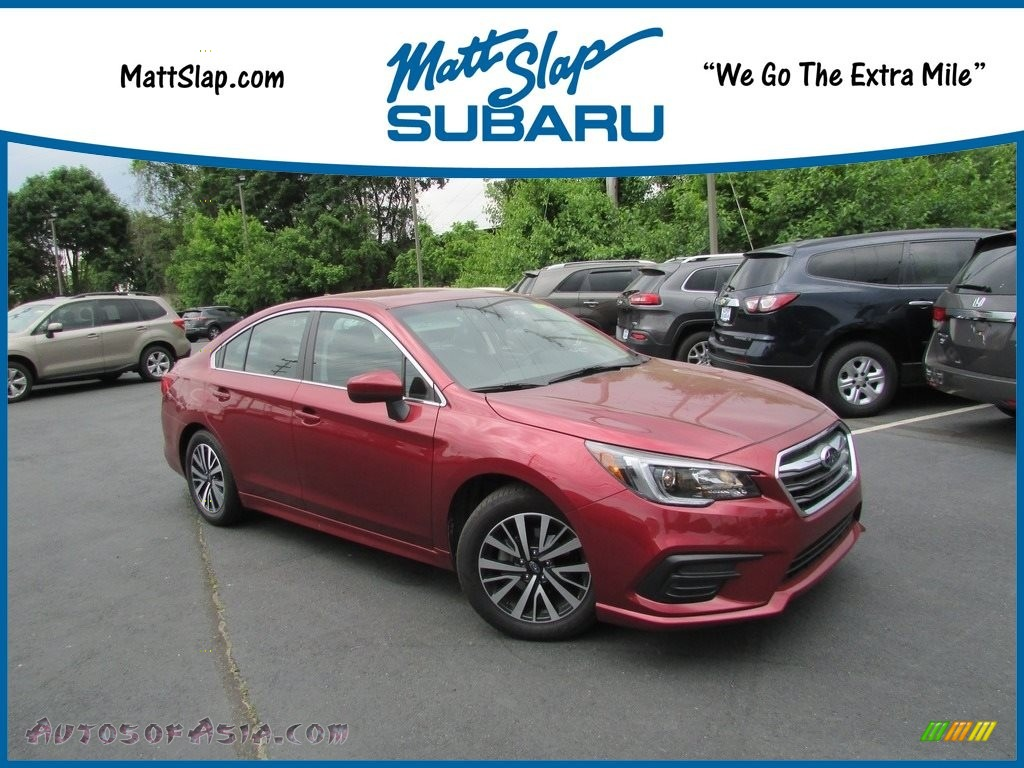 2019 Legacy 2.5i Premium - Crimson Red / Slate Black photo #1