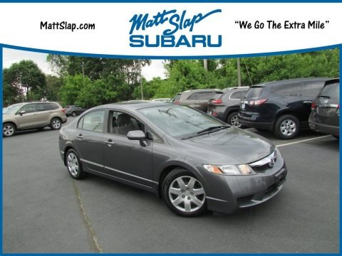Polished Metal Metallic 2009 Honda Civic LX Sedan