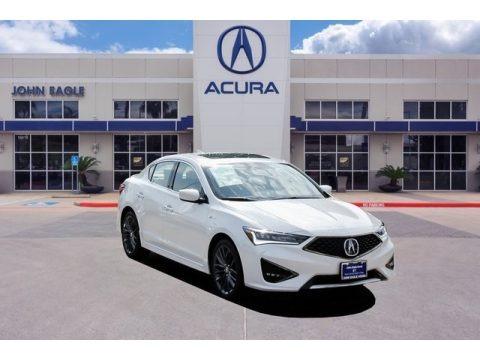 Platinum White Pearl 2019 Acura ILX A-Spec