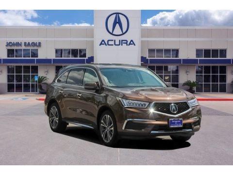 Canyon Bronze Metallic 2019 Acura MDX Technology