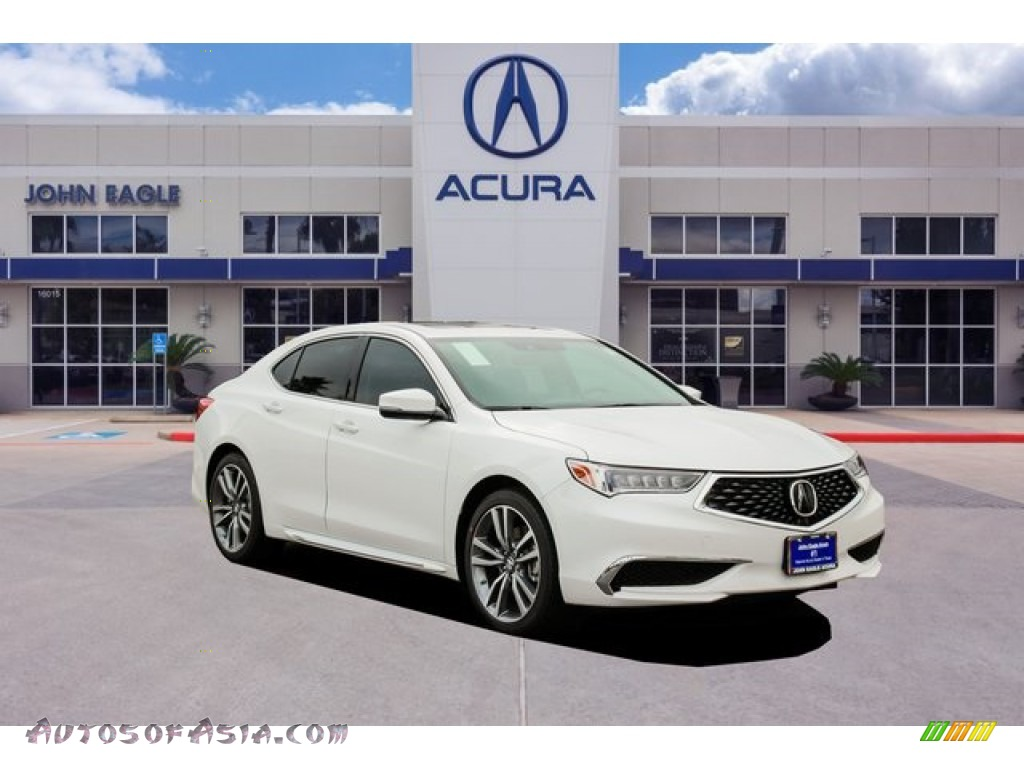 2020 TLX V6 Technology Sedan - Platinum White Pearl / Ebony photo #1