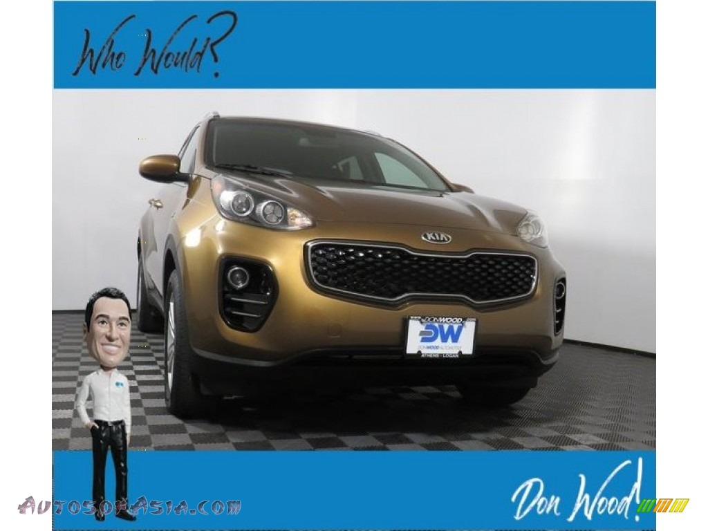 2017 Sportage LX AWD - Burnished Copper / Black photo #1