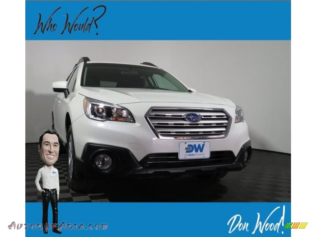 2017 Outback 2.5i Premium - Crystal White Pearl / Slate Black photo #1