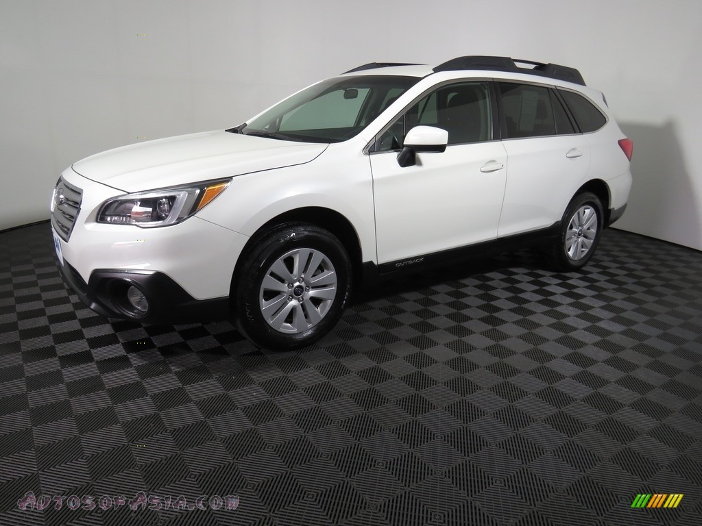 2017 Outback 2.5i Premium - Crystal White Pearl / Slate Black photo #7