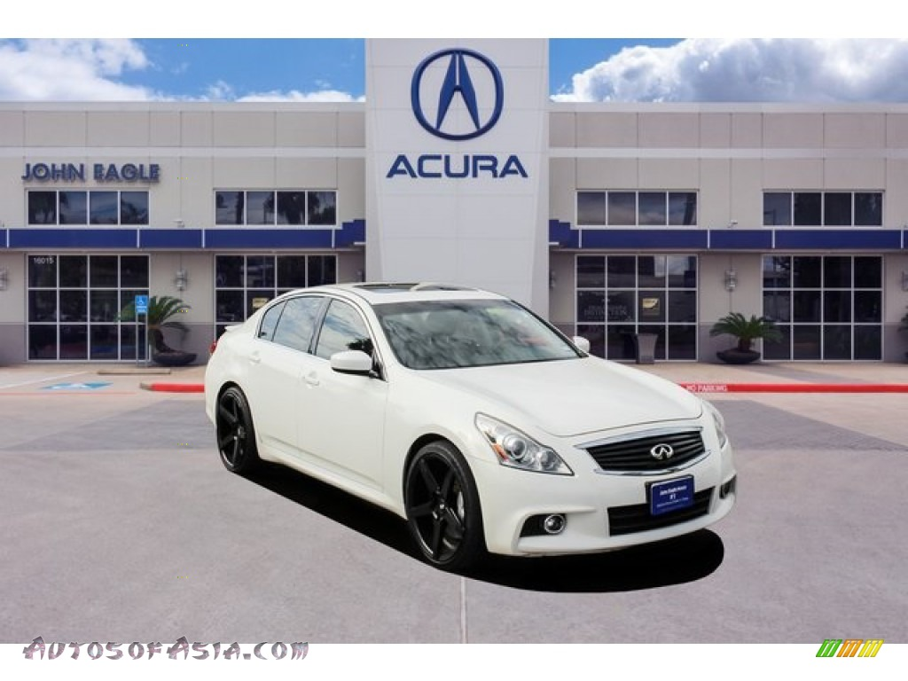 Moonlight White / Graphite Infiniti G 37 Journey Sedan