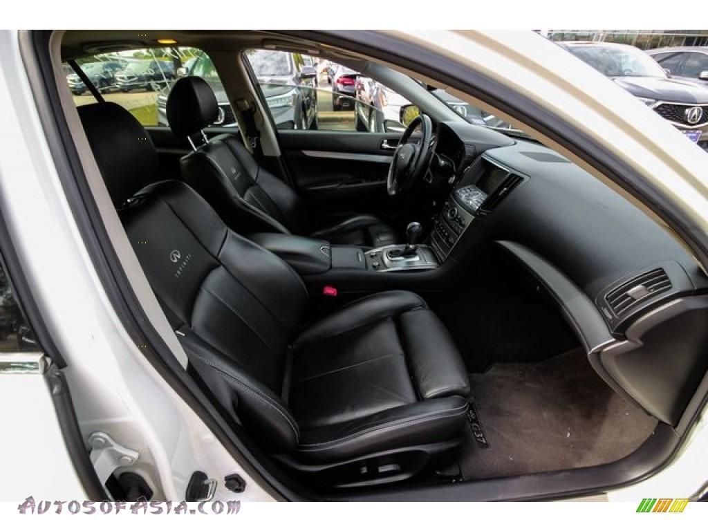 2013 G 37 Journey Sedan - Moonlight White / Graphite photo #23