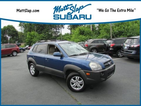 Nautical Blue Metallic 2007 Hyundai Tucson SE