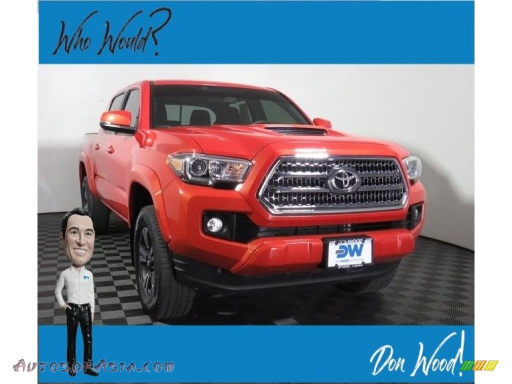 2017 Tacoma TRD Sport Double Cab 4x4 - Barcelona Red Metallic / TRD Black/Orange photo #1