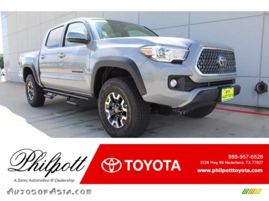 Cement Gray / Black Toyota Tacoma TRD Off-Road Double Cab 4x4
