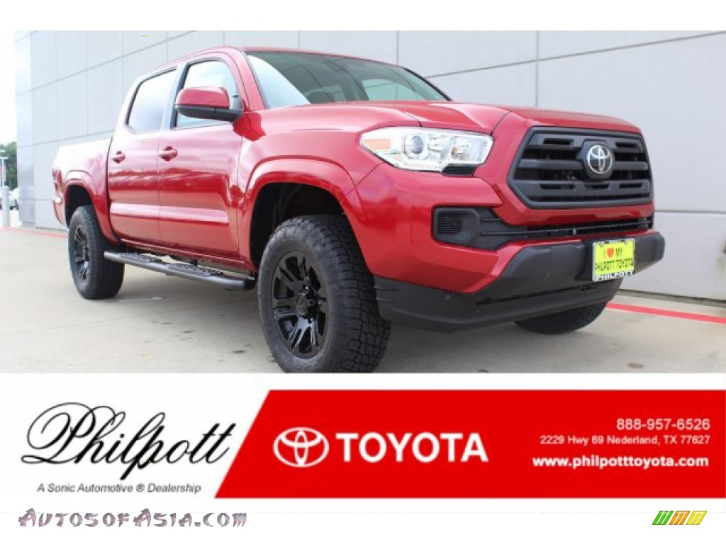 2019 Tacoma SR Double Cab 4x4 - Barcelona Red Metallic / Cement Gray photo #1