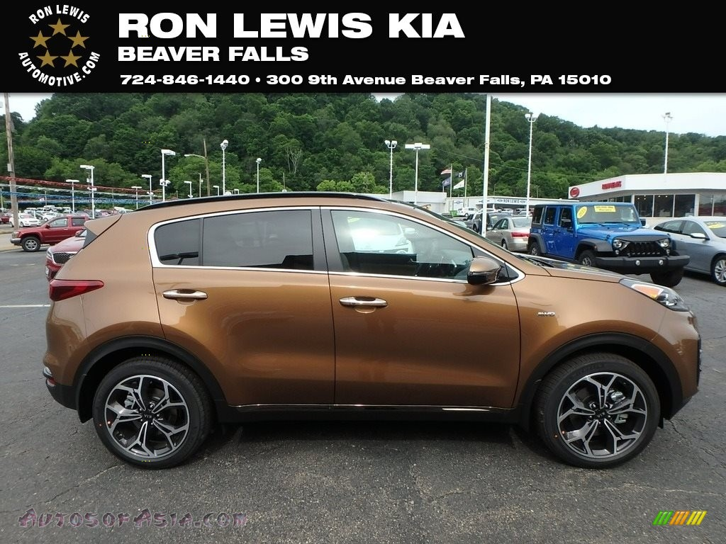 2020 Sportage SX Turbo AWD - Burnished Copper / Beige photo #1