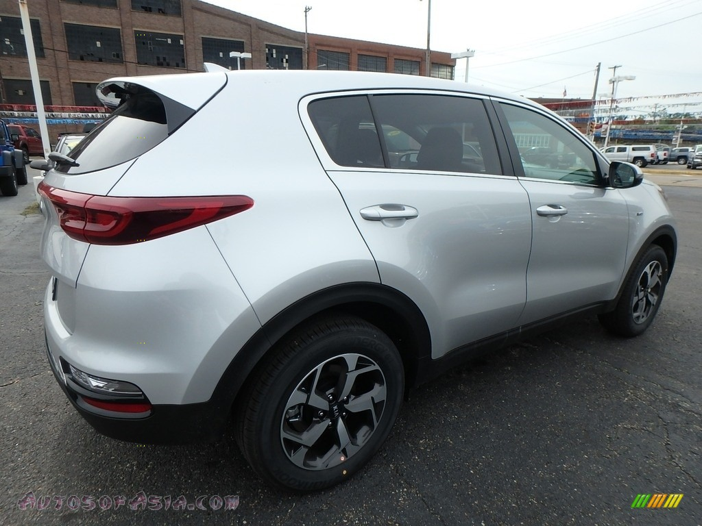2020 Sportage LX AWD - Sparkling Silver / Black photo #2