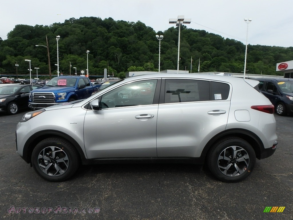 2020 Sportage LX AWD - Sparkling Silver / Black photo #6
