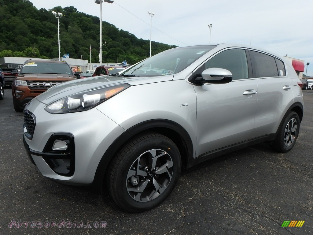 2020 Sportage LX AWD - Sparkling Silver / Black photo #7