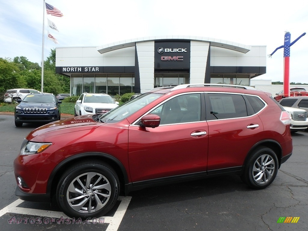 Cayenne Red / Charcoal Nissan Rogue SL AWD