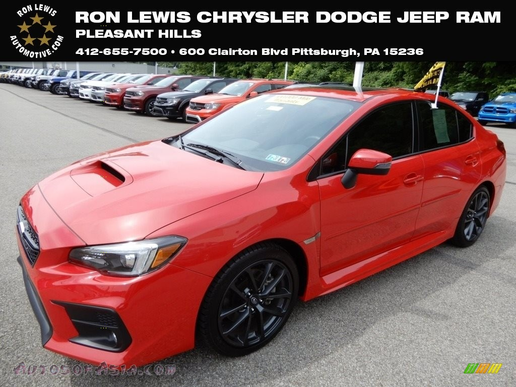 2018 WRX Limited - Pure Red / Carbon Black photo #1