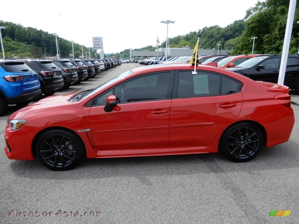 2018 WRX Limited - Pure Red / Carbon Black photo #2