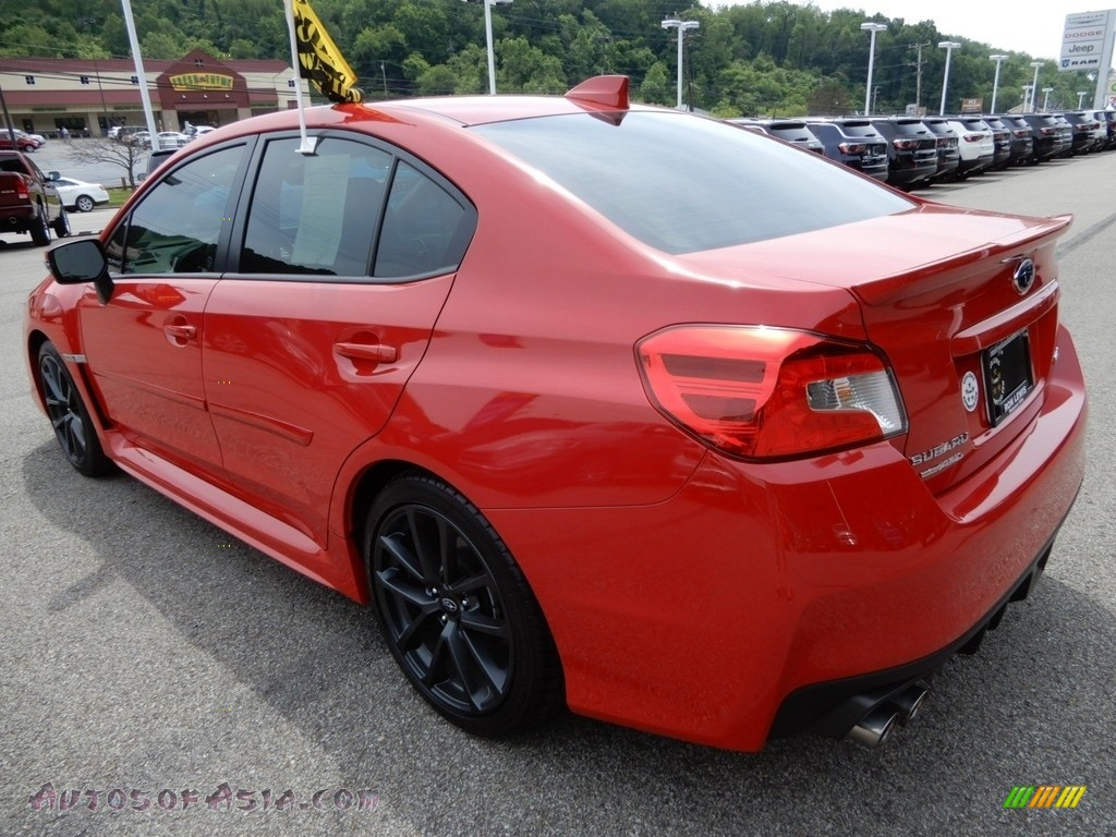 2018 WRX Limited - Pure Red / Carbon Black photo #3