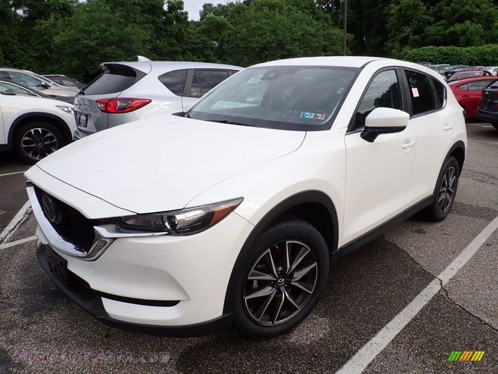 2018 CX-5 Touring AWD - Snowflake White Pearl Mica / Black photo #1
