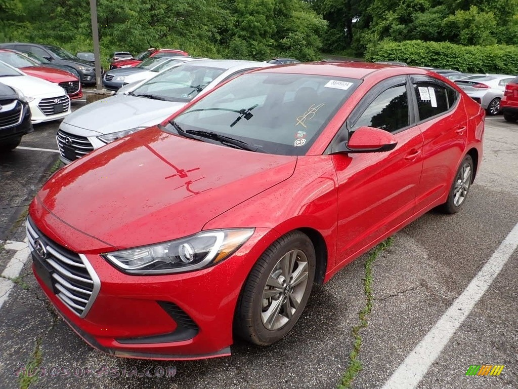 2018 Elantra SEL - Scarlet Red / Gray photo #1