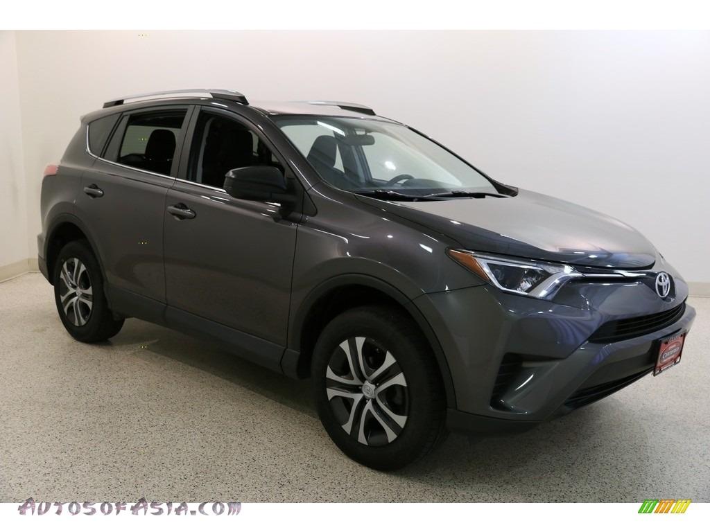 Magnetic Gray Metallic / Black Toyota RAV4 LE AWD