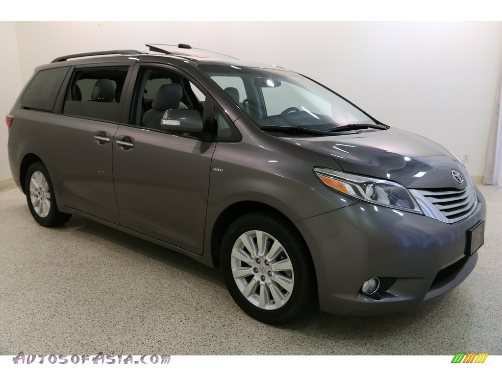Predawn Gray Mica / Ash Toyota Sienna Limited Premium AWD