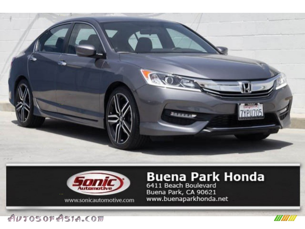 Modern Steel Metallic / Black Honda Accord Sport Special Edition Sedan