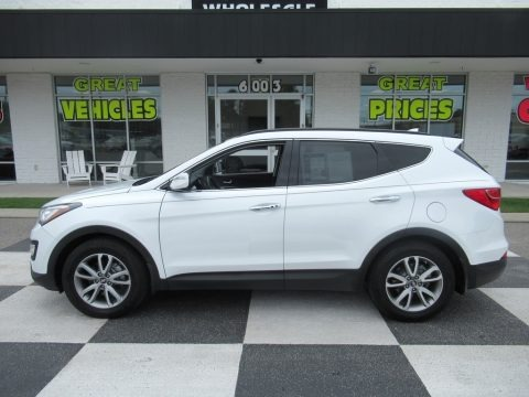 Frost White Pearl 2014 Hyundai Santa Fe Sport 2.0T AWD