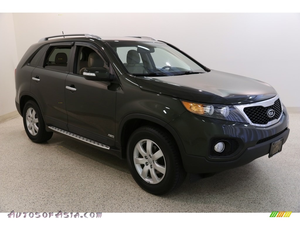 2012 Sorento LX AWD - Tuscan Olive / Beige photo #1