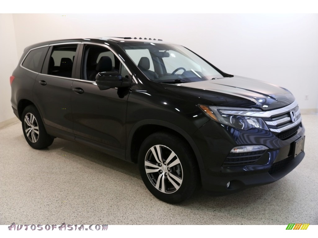 2016 Pilot EX-L AWD - Crystal Black Pearl / Black photo #1