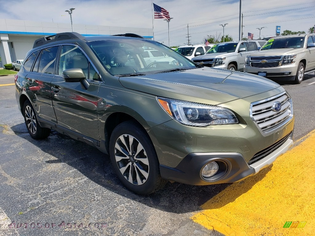 2017 Outback 2.5i Limited - Wilderness Green Metallic / Warm Ivory photo #1
