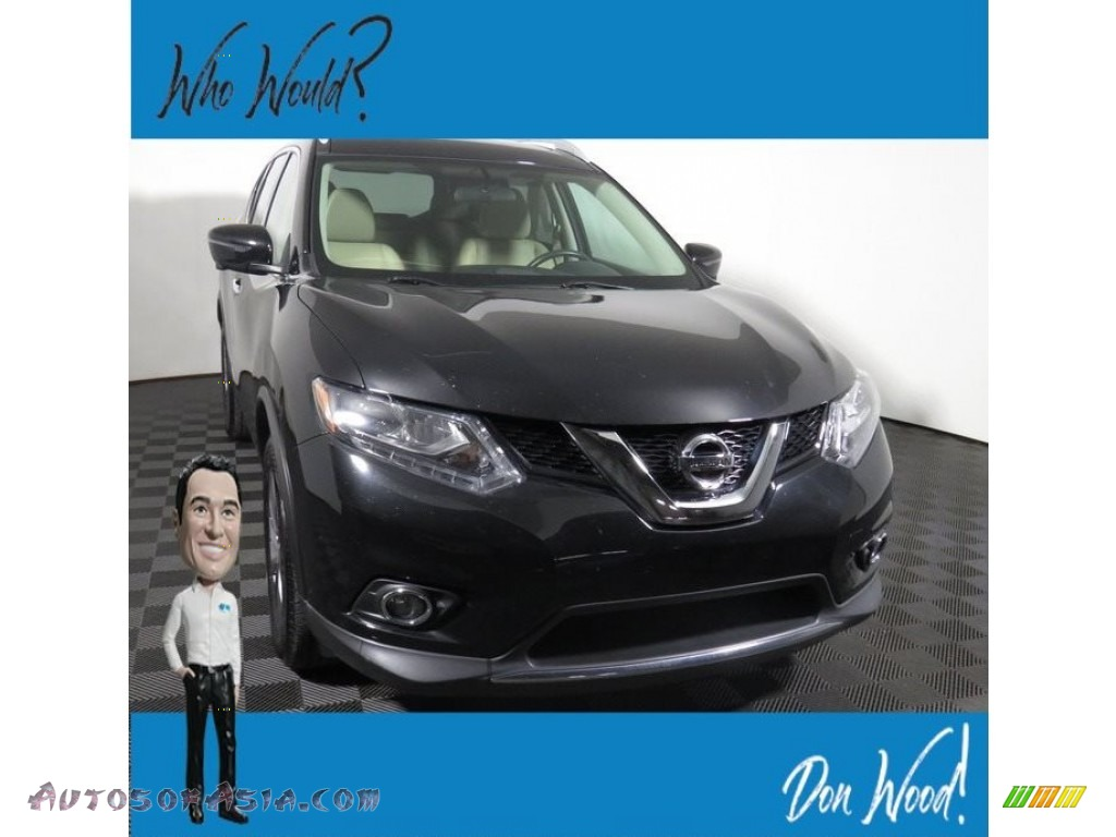 Magnetic Black / Charcoal Nissan Rogue SL