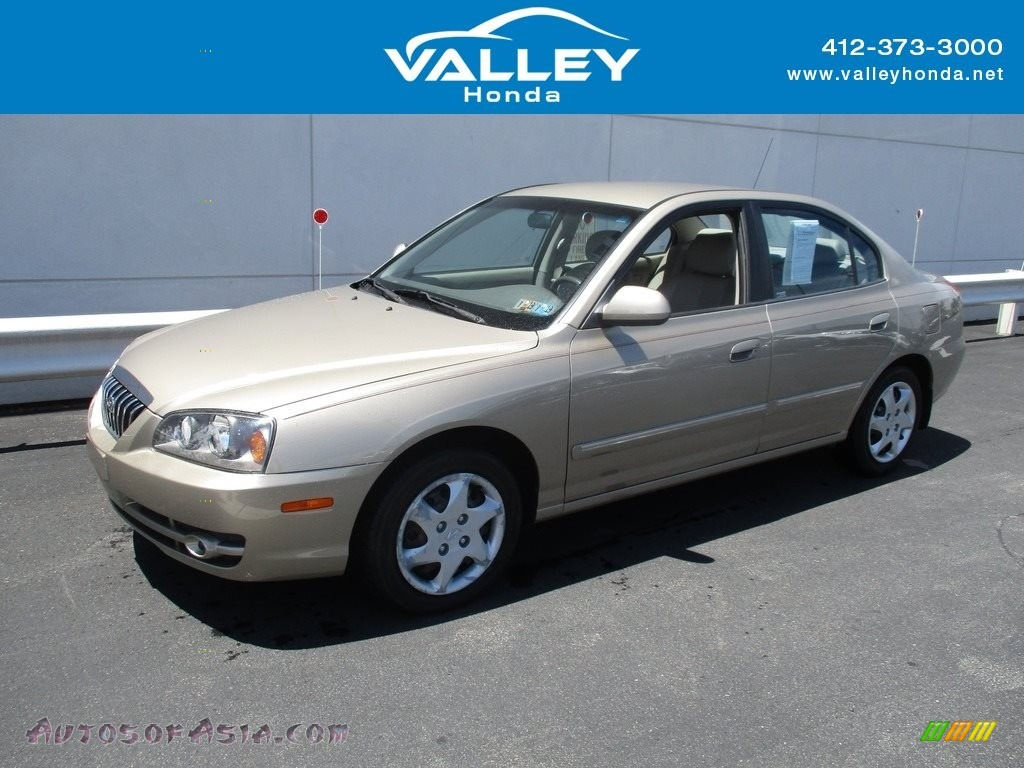 2006 Elantra GLS Sedan - Champagne Beige / Beige photo #1