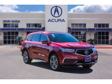 Performance Red Pearl 2019 Acura MDX Technology