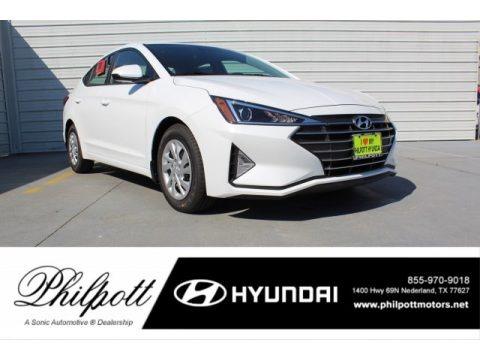 Quartz White Pearl 2020 Hyundai Elantra SE