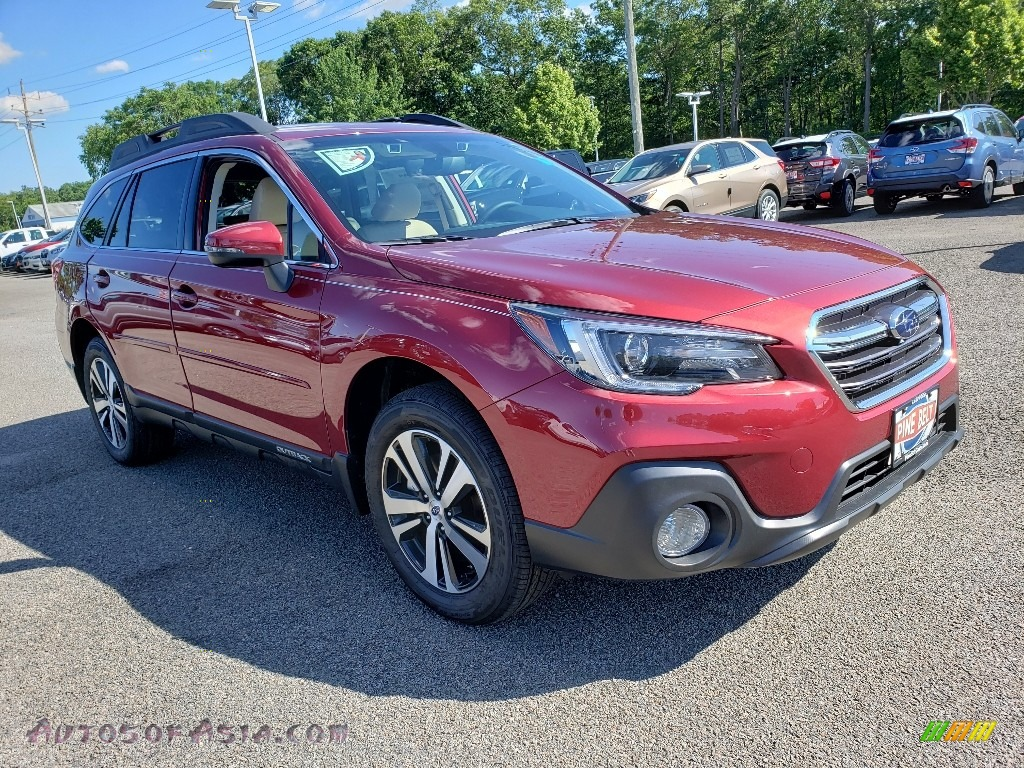Crimson Red Pearl / Warm Ivory Subaru Outback 2.5i Limited