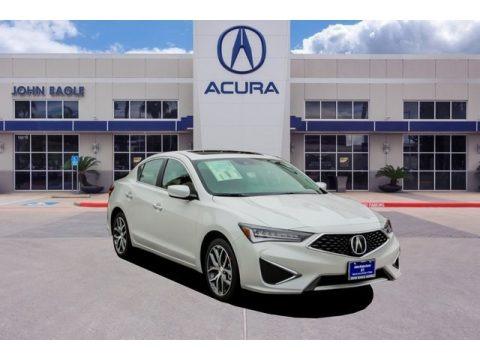 Platinum White Pearl 2019 Acura ILX Technology