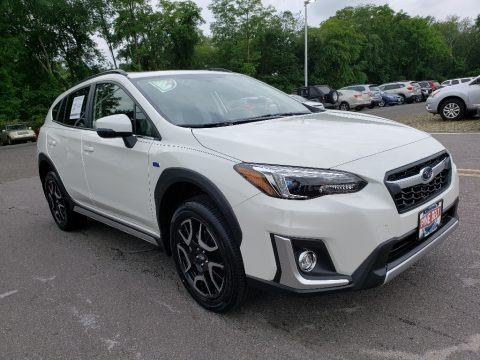 Crystal White Pearl 2019 Subaru Crosstrek Hybrid