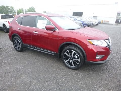 Scarlet Ember 2019 Nissan Rogue SL AWD