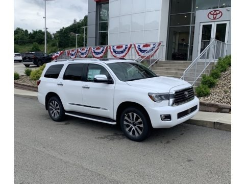 Super White 2019 Toyota Sequoia Limited 4x4