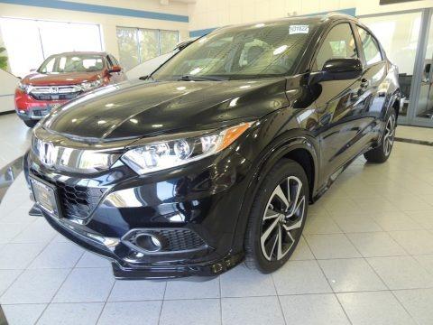 Crystal Black Pearl 2019 Honda HR-V Sport AWD