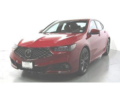 San Marino Red 2018 Acura TLX V6 A-Spec Sedan