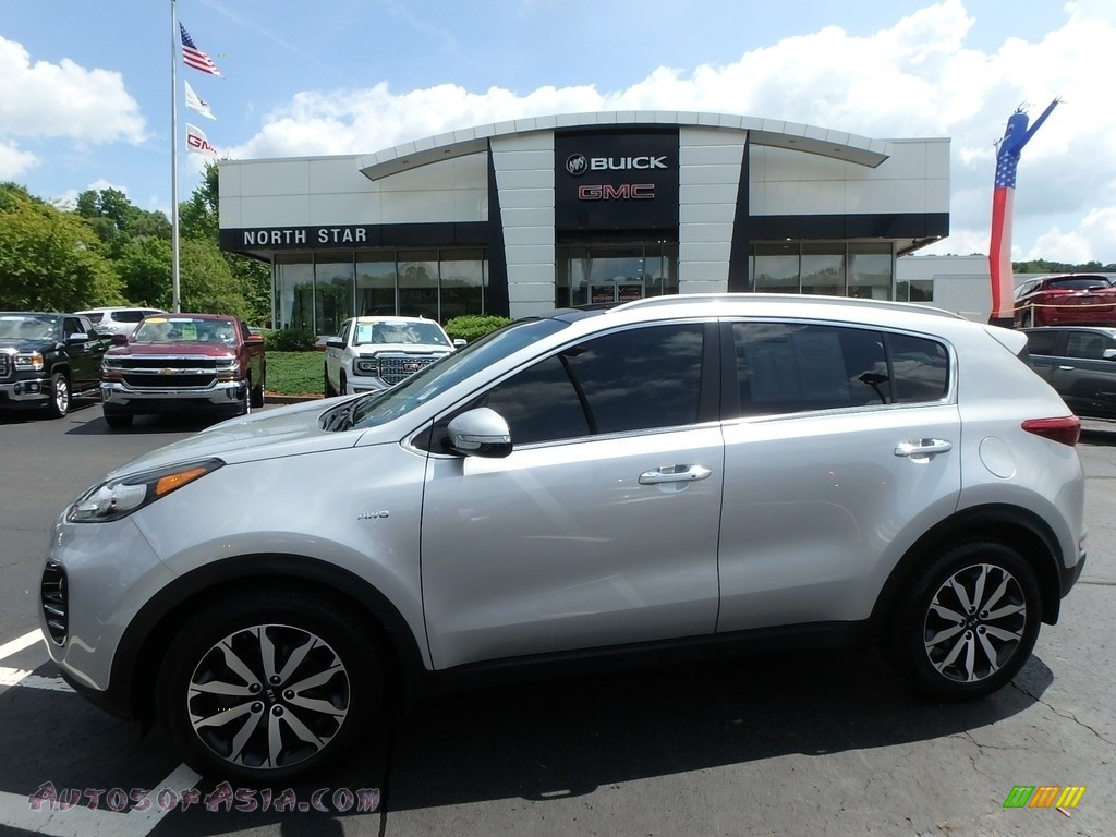 2017 Sportage EX AWD - Sparkling Silver / Black photo #1