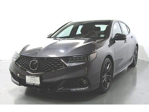 Modern Steel Metallic 2018 Acura TLX V6 A-Spec Sedan