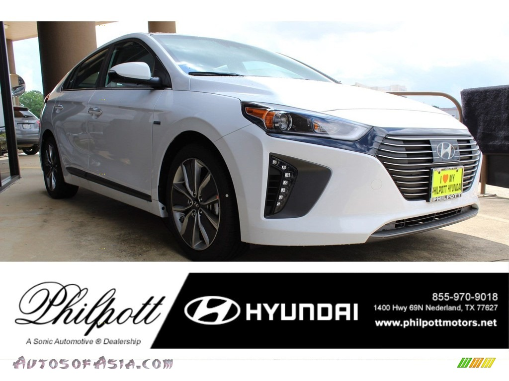2019 Ioniq Hybrid Limited - Ceramic White / Black photo #1