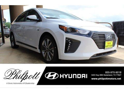 Ceramic White 2019 Hyundai Ioniq Hybrid Limited