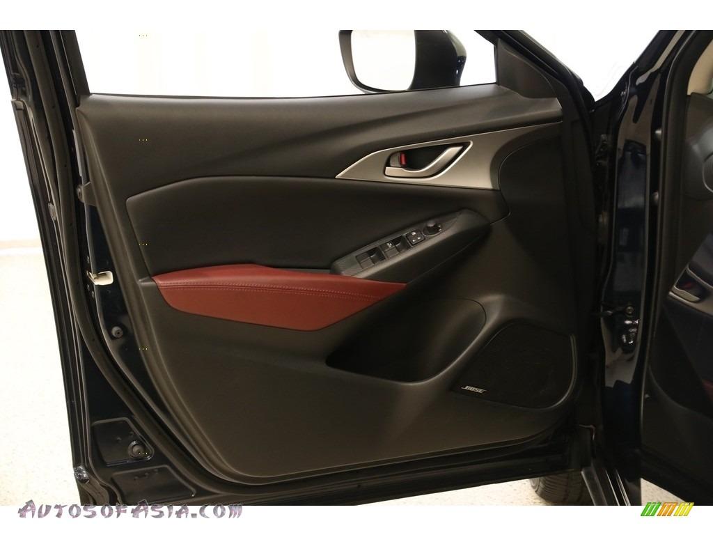 2017 CX-3 Touring AWD - Deep Crystal Blue Mica / Black photo #4